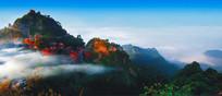 道教圣地武当山风景区全景图