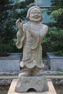 和合二仙石雕像