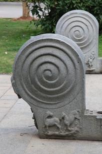 螺旋纹石雕门墩
