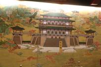 芙蓉园贞观长歌壁画-皇家园林