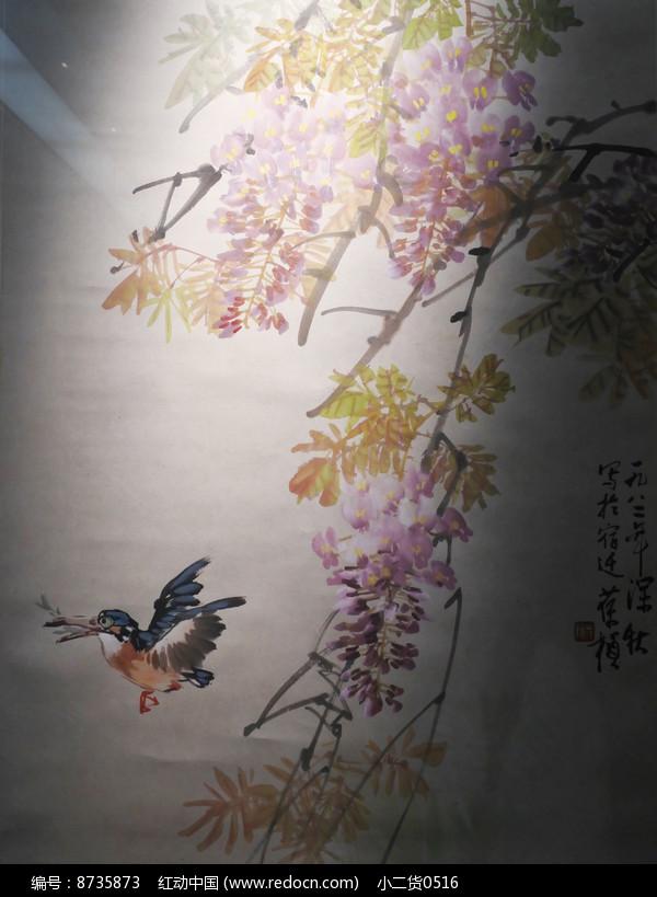 喜鹊水墨画图片
