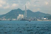 远眺香港昂船洲大桥