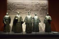 曾国藩左宗棠等人物雕像