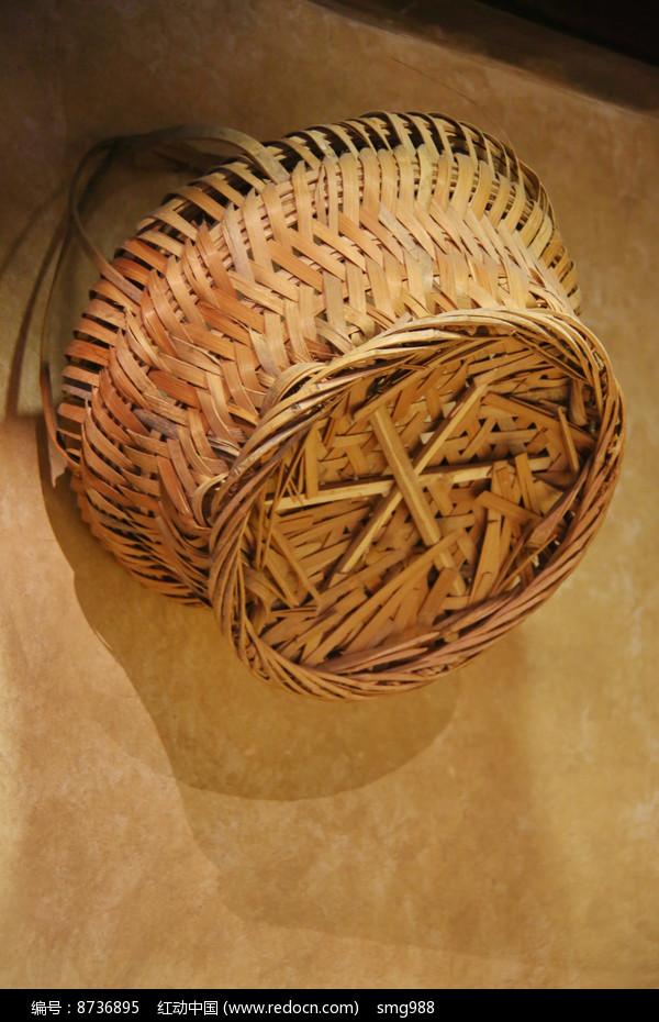 竹编提篮子图片