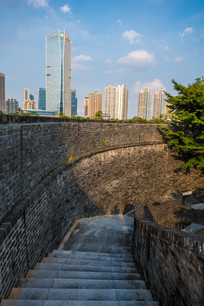 从朝京门看现代建筑