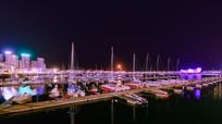 帆船中心夜景