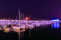海上帆船基地夜景