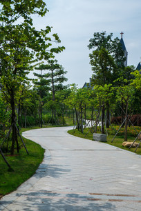 鹿江公园的弯路