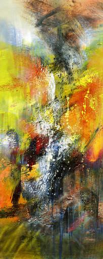 走廊抽象油画