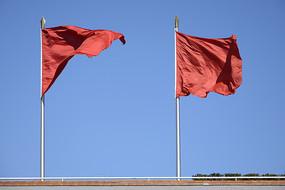 红旗飘飘图片