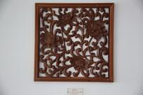 木雕窗花菊花