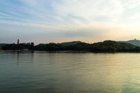 惠州西湖的傍晚景色