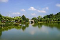 惠州西湖烟霞桥长曝景色