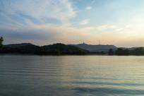 近黄昏的惠州西湖