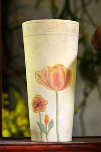 郁金香花卉陶瓷花瓶