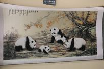 蜀绣中华国宝熊猫图