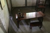 杜甫茅屋书房案桌笔筒油灯