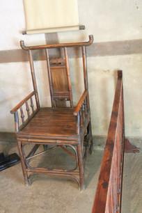 杜甫茅屋竹编藤椅