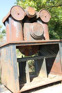 工业风金属钢架现代雕塑