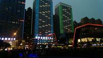 贵阳花果园金融街夜景