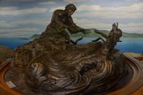 孩子与母亲雕塑