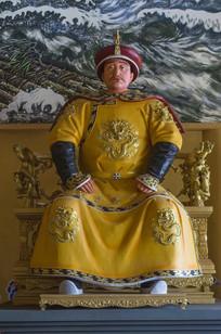 皇太极蜡像