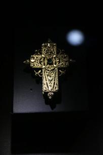 罗马尼亚纯银镂空雕花十字架