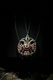 罗马尼亚纯银镶嵌宝石吊坠