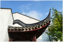 苏州园林屋檐建筑