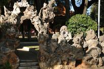 大观园的假山拱门