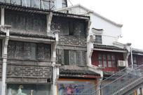 桂林阳朔西街徽派建筑特写