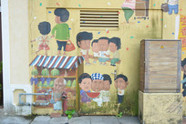 澳门氹仔官也街特色墙绘