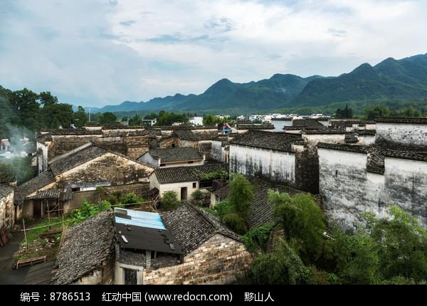 黟县南屏村落建筑图片