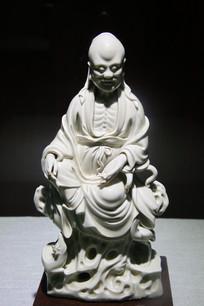 明代德化窑白釉寿星坐像