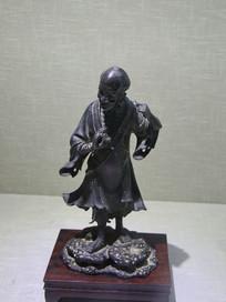 明代刘海戏金蟾铜像