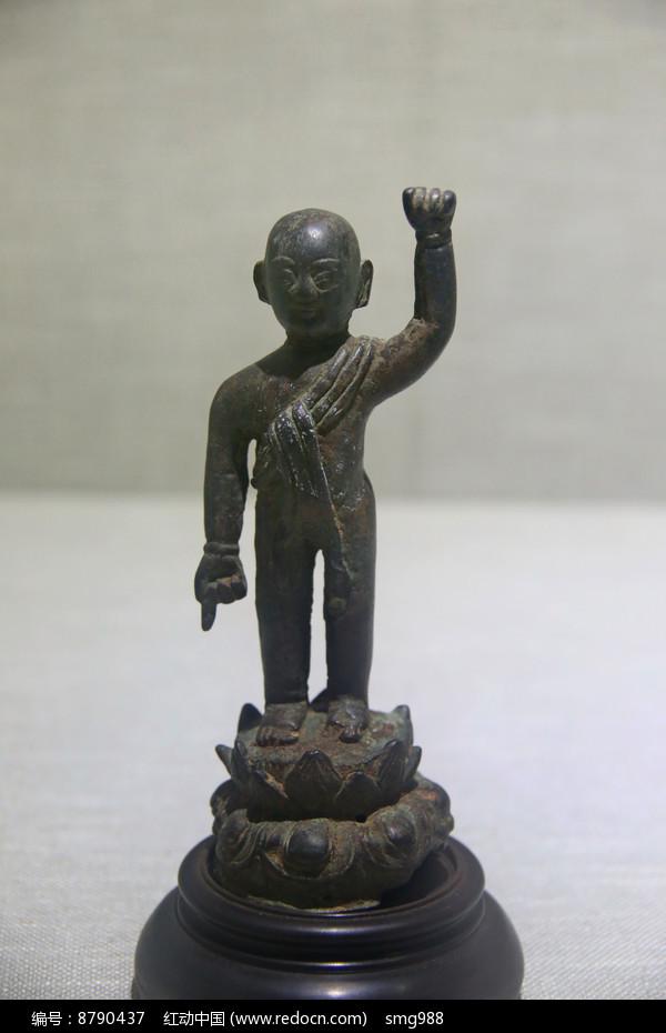 清代太子铜像图片