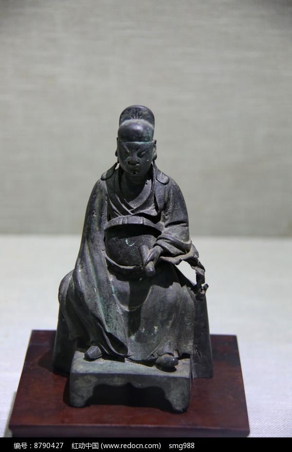 清代铜文昌公坐像图片