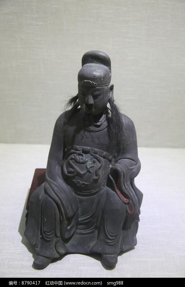 清代铜文昌像图片