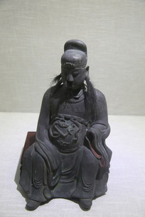 清代铜文昌像