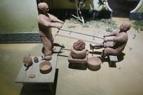 古人制陶瓷工艺雕像