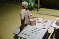 古人制陶瓷工艺雕像修形