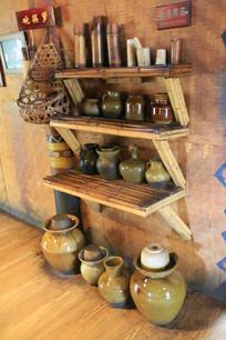 拉祜族碗筷箩与生活用品