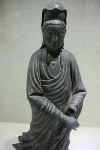 清代的铜观音立像