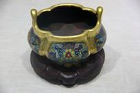 清代掐丝珐琅铜香炉