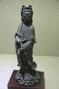 清代铜观音立像