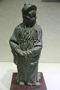 清代铜关羽像
