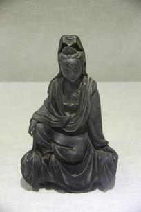 清铜铜观音坐像