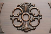 铜雕花卉纹装饰图案