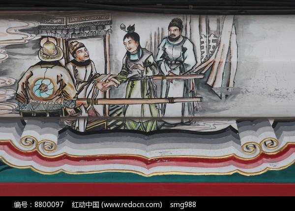 房梁彩绘画红楼梦人物刘姥姥高清图片下载 红动网