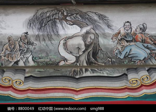 房梁彩绘画鲁智深高清图片下载 编号8800049 红动网